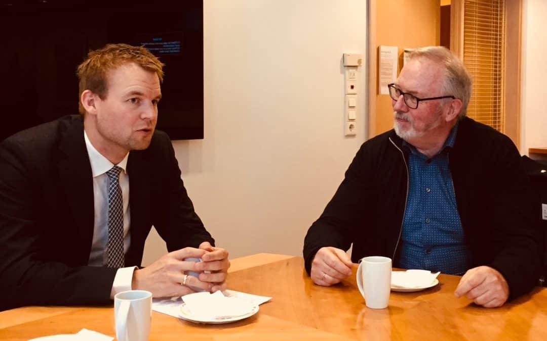 Positivt møte med barne-og familieministeren i Oslo